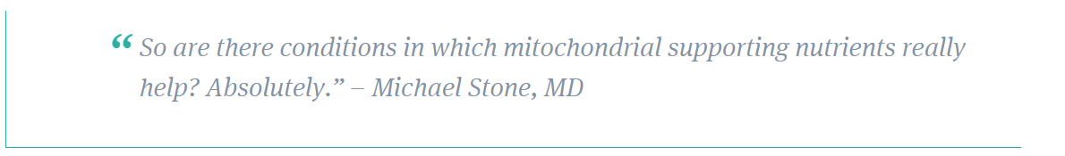 stone quote on mitochondrial support